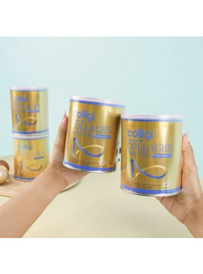 COLLIGI Hydrolyzed Collagen Tripeptide Vit C: 5 Cans Promo