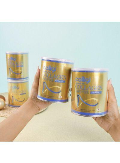 COLLIGI Hydrolyzed Collagen Tripeptide Vit C: 5 Cans Promo