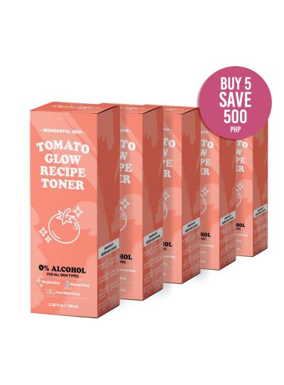 Tomato Glow Recipe Toner: BUNDLE OF 5 [ BUY MORE SAVE MORE ]