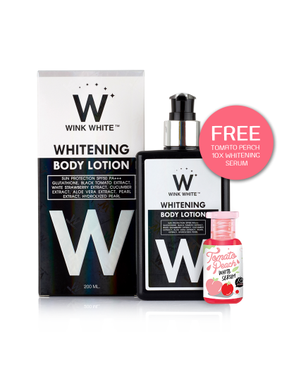 Wink White Whitening Body Lotion with FREE Tomato Peach 10x Serum
